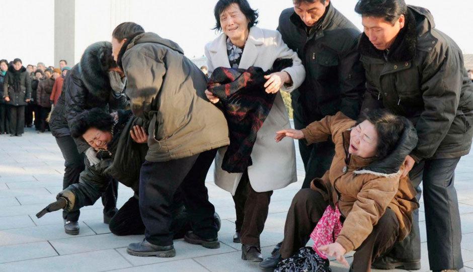 朝鲜民众悼念金正日