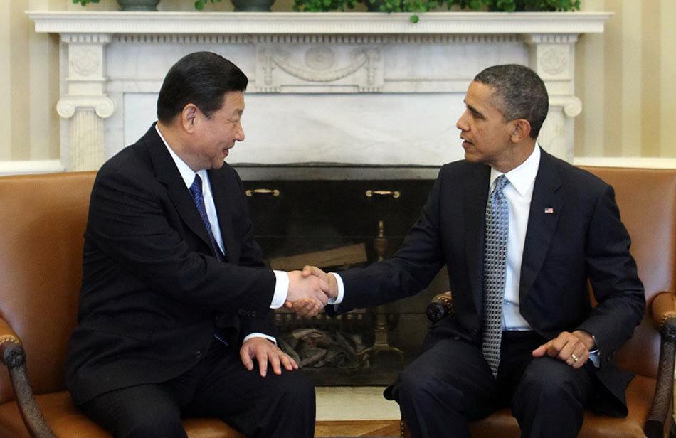 高清图:习近平会见美国总统奥巴马