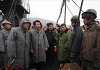 张德江在王家岭煤矿透水事故现场