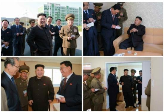 资料图片:黄炳誓等朝鲜高层陪同金正恩视察