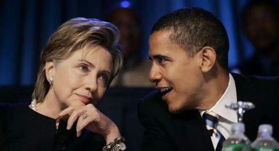 希拉里与奥巴马