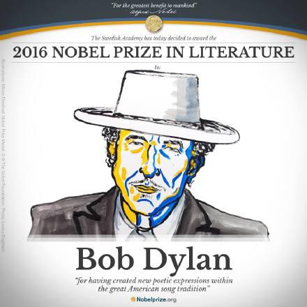美国民谣歌手鲍勃-迪伦获2016诺贝尔文学奖