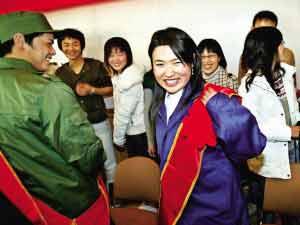 北京今年近300名大学生新兵入伍(图)