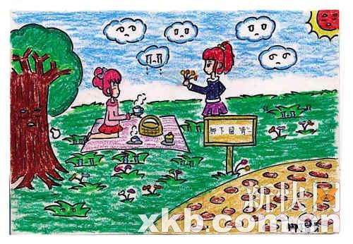 儿童眼中的广州手绘图