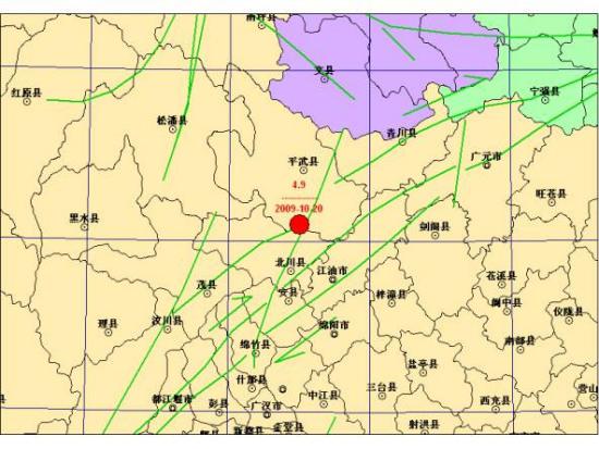 四川北川与平武交界发生4.9级地震