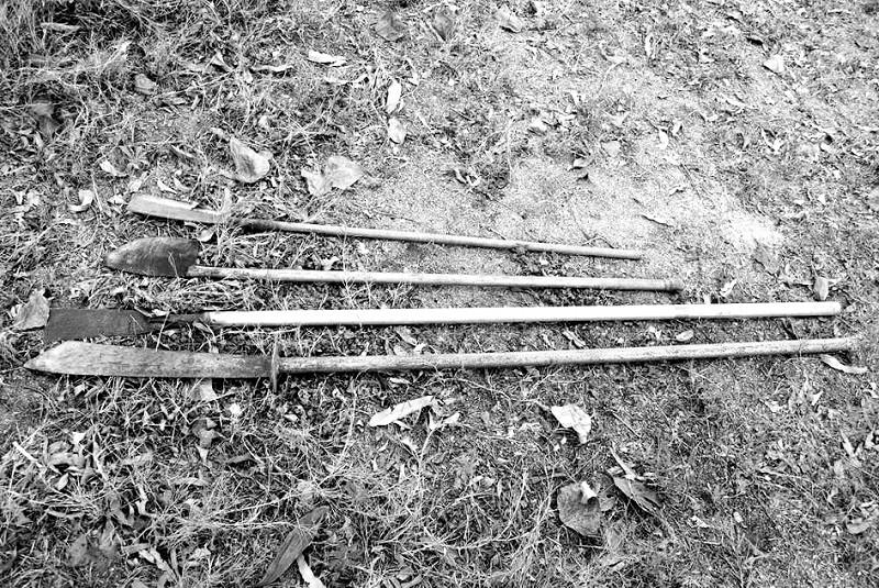 连续草丛剪纸步骤图解
