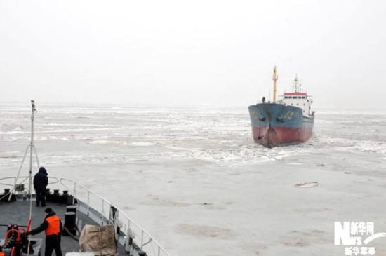 渤海和黄海北部海冰冰情缓解至警报标准以下