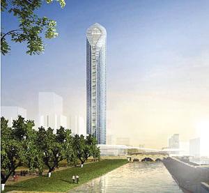 苏州开建450米高摩天楼将成江苏第一高楼