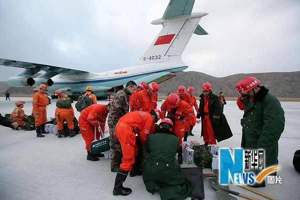 中国各地积极援助玉树地震灾区