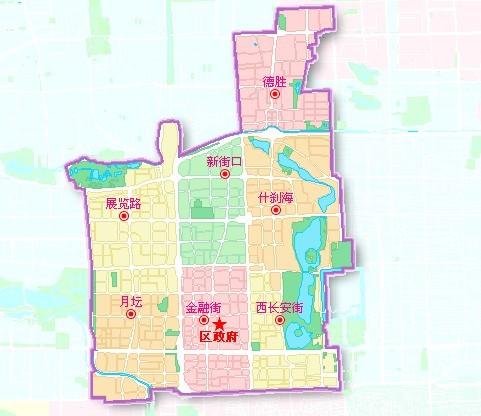 原北京市西城区地图