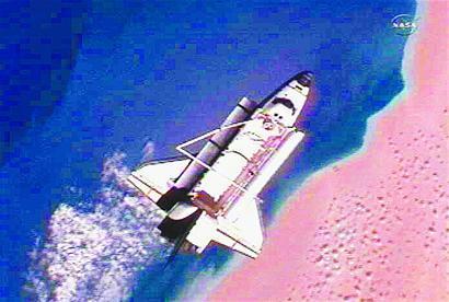 3月7日拍摄的视频截图显示的是脱离国际空间站的美国