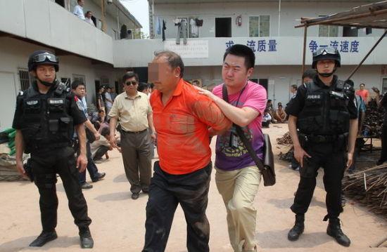 民警在工地捉获多名打手