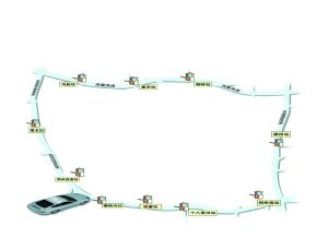 郑州绕城高速10站点示意图 制图 谢景豹
