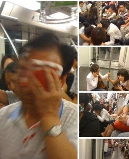上海地铁事故现场,来源:新民网
