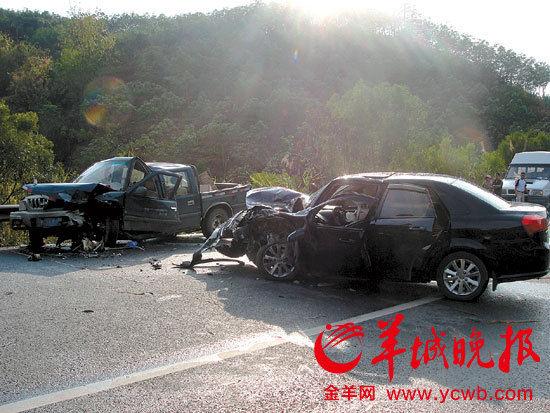 张国玺夫妇发生车祸的现场