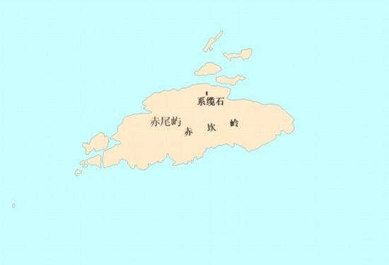 图3 赤尾屿地理实体位置示意图