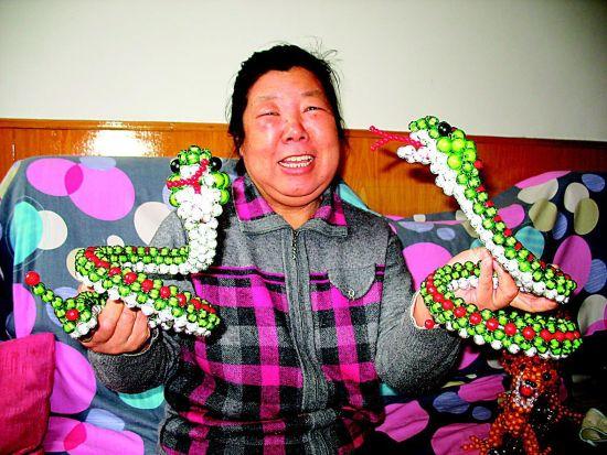 穿珠子编织花瓶 图解 ;图片