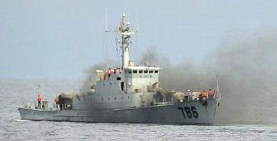 """资料图:中国海军786""""万宁""""艇"""