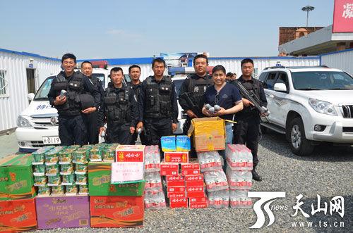 新疆浙商慰问维稳一线特警 感谢最可爱的人