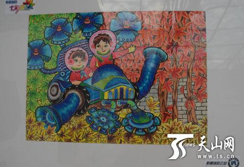 放飞梦想,我爱新疆绘画图片 放飞梦想绘画作品,放飞梦想我爱新疆图片