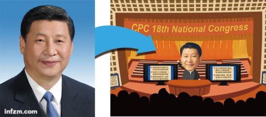 左图为《领导人是怎样炼成的》网络动画片中习近平的原图。 (新华社/图)
