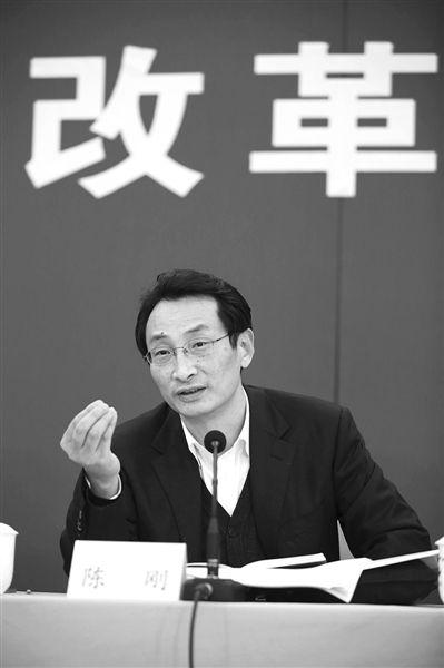 2014年1月17日,政协联组会,北京市副市长陈刚参加土地制度改革联组讨论会听取委员意见并发言。新京报记者 侯少卿 摄
