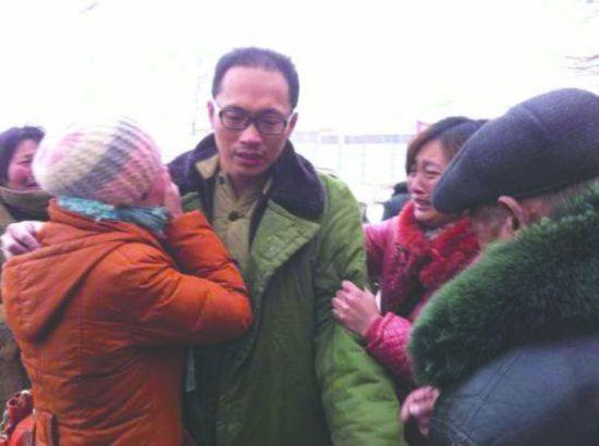 杨波涛被取保候审后回家
