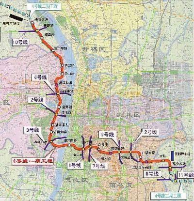 长沙地铁4号线一期拟年内开工