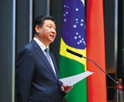 16日,国家主席习近平在巴西国会发表《弘扬传统友好 共谱合作新篇》的演讲。新华社发