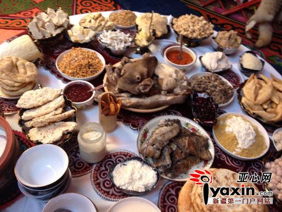 阿勒泰哈萨克族奶茶传统,美食枸杞荣获基尼斯世界纪录美食的饮用搭配文化图片