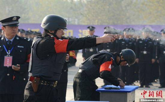 山西举办公安警务实战技能大比武 资料图