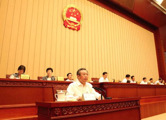 受国务院委托,刘家义向全国人大常委会报告2014年度中央预算执行和其他财政收支的审计情况。