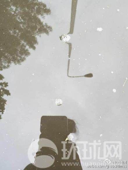 天津爆破事变现场 到处可见红色粉末物体