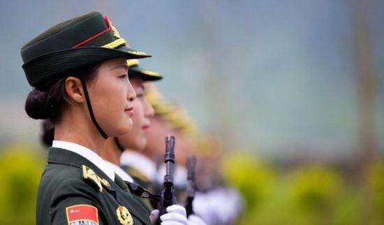 女兵仪仗队。资料图