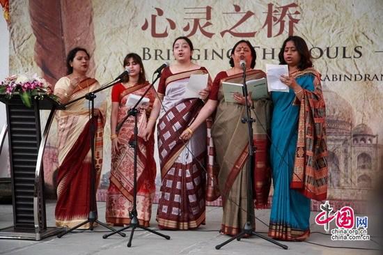 世博会印度馆举行泰戈尔诗歌朗诵会(组图)