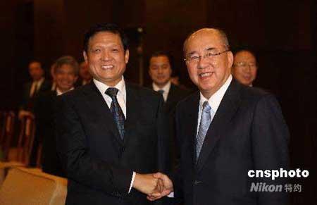 图文:刘淇会见中国国民党主席吴伯雄