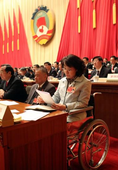 图文:全国政协委员在听会