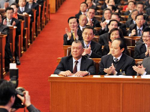 图文:何厚铧当选政协11届全国委员会副主席
