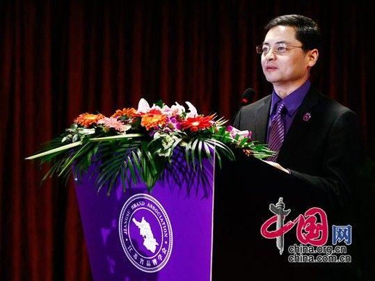 江苏省品牌学会会长徐浩然讲话。 中国网 杨佳/摄影