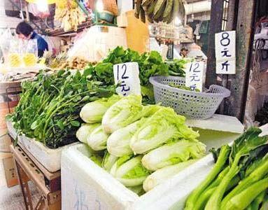 大白菜的零售价近日已急升至每斤12元。图片来源:香港文汇报