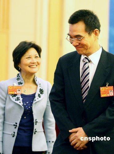 台湾省籍全国人大代表林毅夫与夫人陈云英