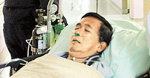 陈水扁在桃园医院就医。 资料图
