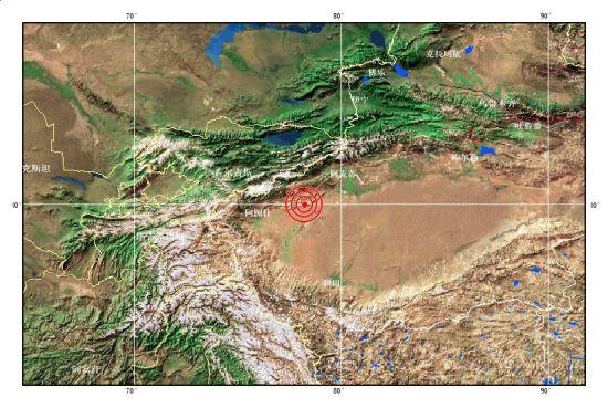局部视图(图据中国地震台网中心)