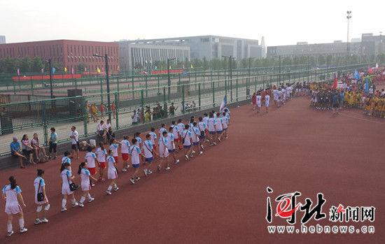 河北省第十八届大运会甲组篮球排球比赛开赛(