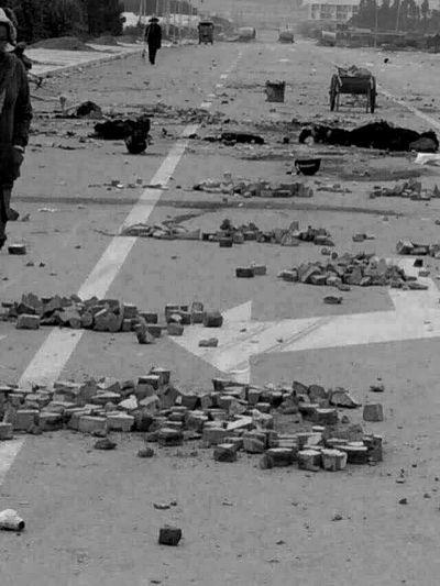 冲突后的现场。村民供图