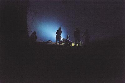 猎鸟者在黑夜中捕猎。