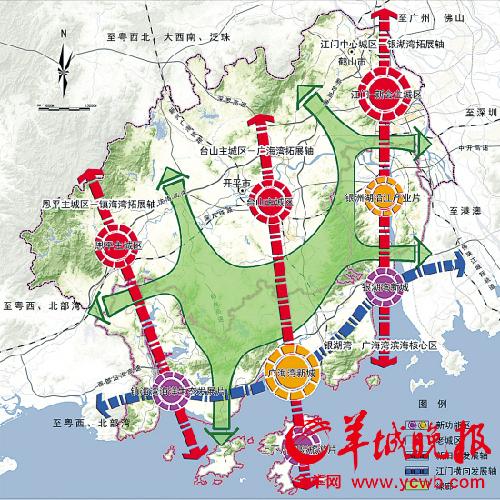 江门区域地图全图