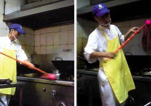 长沙一家超市被曝拖把洗锅死虾被当醉虾卖(图)