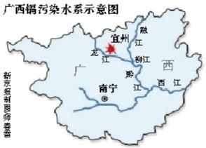 广西镉污染水系示意图