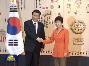 习近平与朴槿惠举行会谈 加强两国合作